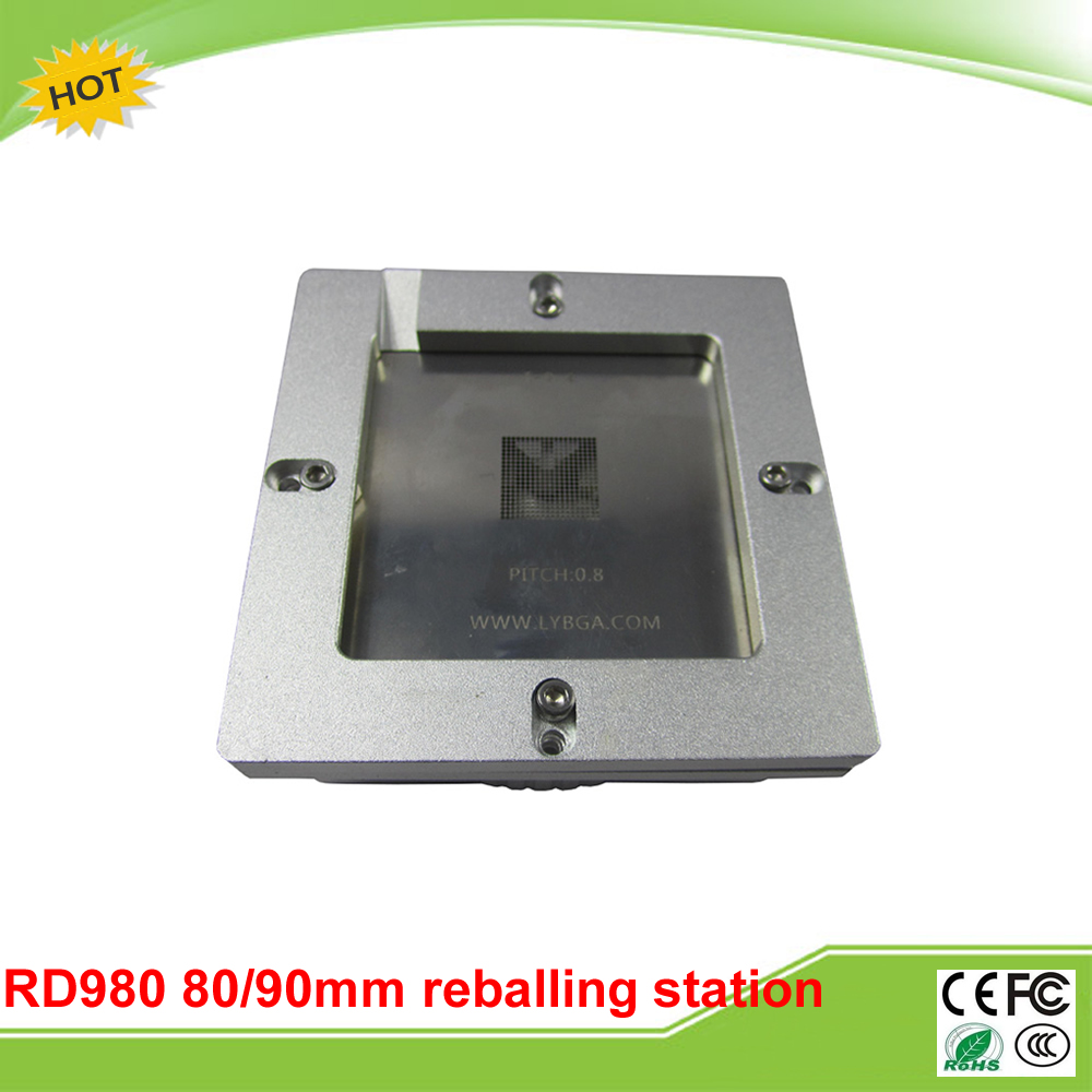 LY RD980 New auto align bga reball jig only wheel control one frame compatible for 80mm 90mm stencils