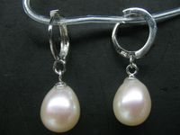 Wholesale Price 16new Wholesale 5 Pairs 9 11mm White Cultured Freshwater Pearl Dangle Earring