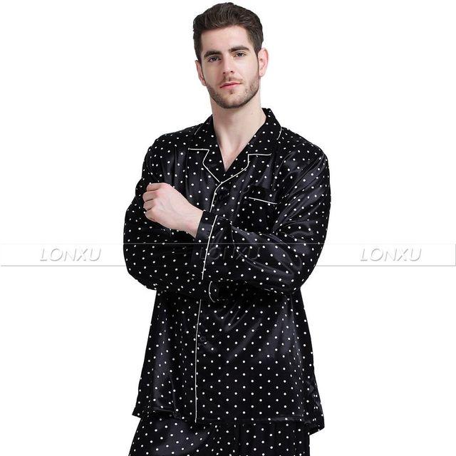 Mens Silk Satin Pajamas Set   Pyjamas  Set   PJS  Sleepwear Set   Loungewear U.S,S,M,L,XL,XXL,4XL Plus