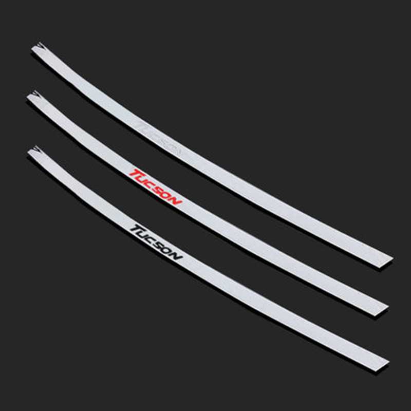Fit For Hyundai Tucson 2016 2017 External Accessorie Stainless Steel Rear Door adornment Streamer Tail Trunk Lid Cover Trim for hyundai new tucson 2015 2016 2017 stainless steel skid plate bumper protector bull bar 1 or 2pcs set quality supplier