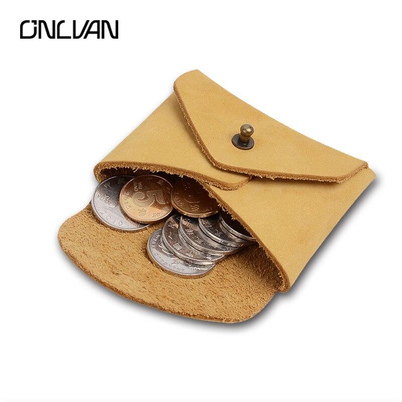 Monedero de cuero genuino Estilo vintage Monedas de cuero real - Monederos y carteras
