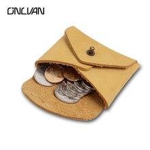 Lederen portemonnee vintage stijl echte lederen portemonnees munt munt pouch bruine kleur hoge kwaliteit accepteren op maat
