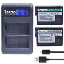 Tectra 2PCS EN-EL15 ENEL15 Li-ion Battery + LCD USB Twin Charger For Nikon D7000 D7100 D800 D800E D600 D610 D810 D7200
