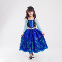 Dresses for Girls New Year Costumes for Children Christmas cute Elsa Anna Party Dress Vestidos infants Cosplay Costume