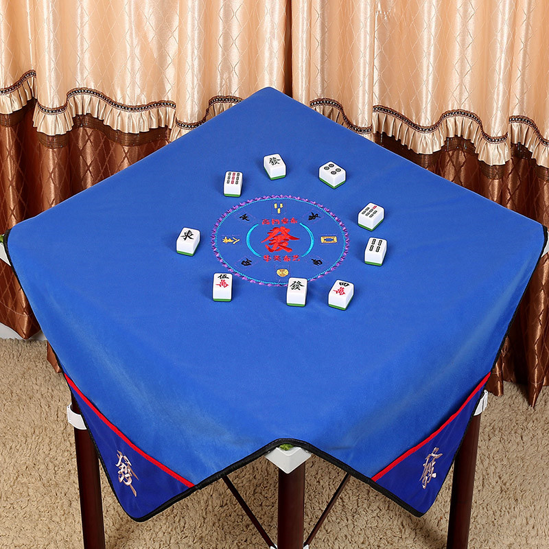 Embroidery technology Square 0.95*0.95m or 1.1*1.1m Silence mahjong mat table cloth, Board game table Mah-Jong mat reduce nois(China)