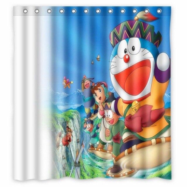 Anime Shower Curtain One Piece Dragon Ball Z Bleach Fairy Tail Naruto Together Doraemon