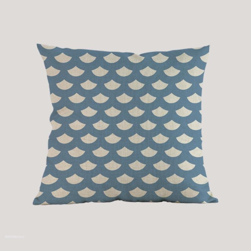 Estilo marino estilo mar tejido azul rosado navegación Funda de - Textiles para el hogar - foto 4