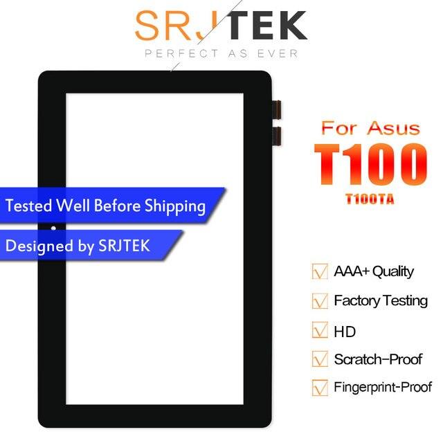 """SRJTEK 10.1 """"ل ASUS محول كتاب T100 T100TA محول الأرقام بشاشة تعمل بلمس SensorTbalet PC أجزاء FP-TPAY10104A-02X-H JA-DA5490NB"""