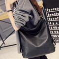 Fashion Ladies Single Shoulder Bag Casual Joker Lady Crossbody Bag PU Black Female Bag New European American Female Pack B332