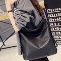 Señoras de la manera Joker Solo Bolso de Hombro Ocasional de la Señora Crossbody Bag PU Negro Bolso Femenino Nueva Americanos Europeos Mujer Paquete B332