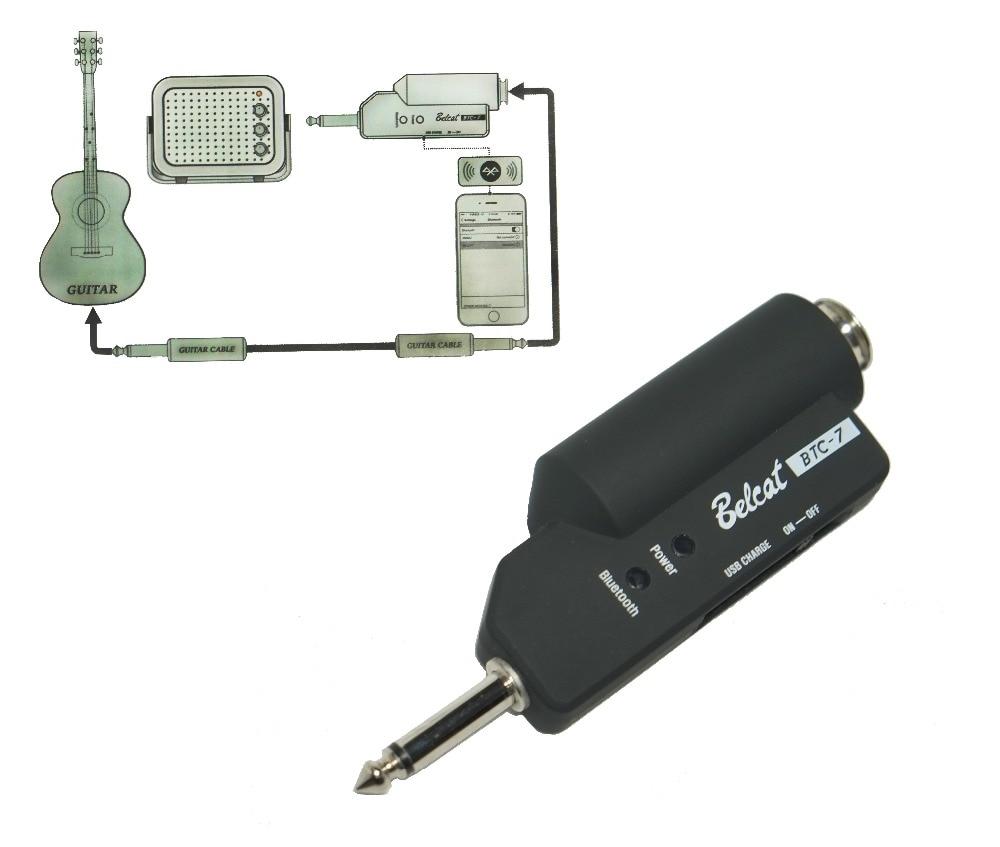 Guitar bluetooth receiver plug Playing guitar with your favorite songs with bluetooth receiver