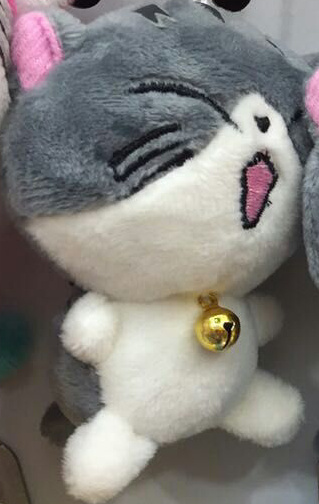 NEW 7CM 4Features - Cat Stuffed Plush Figure Toy , Stuffed Keychain Plush Toy Doll ; Gift Toys for Wedding Bouquet