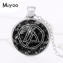Fashion Accessories American Linkin Park logo Pendant Linkin Park Jewelry Glass Necklace Dome Pendant Men's Clothing HZ1(China)