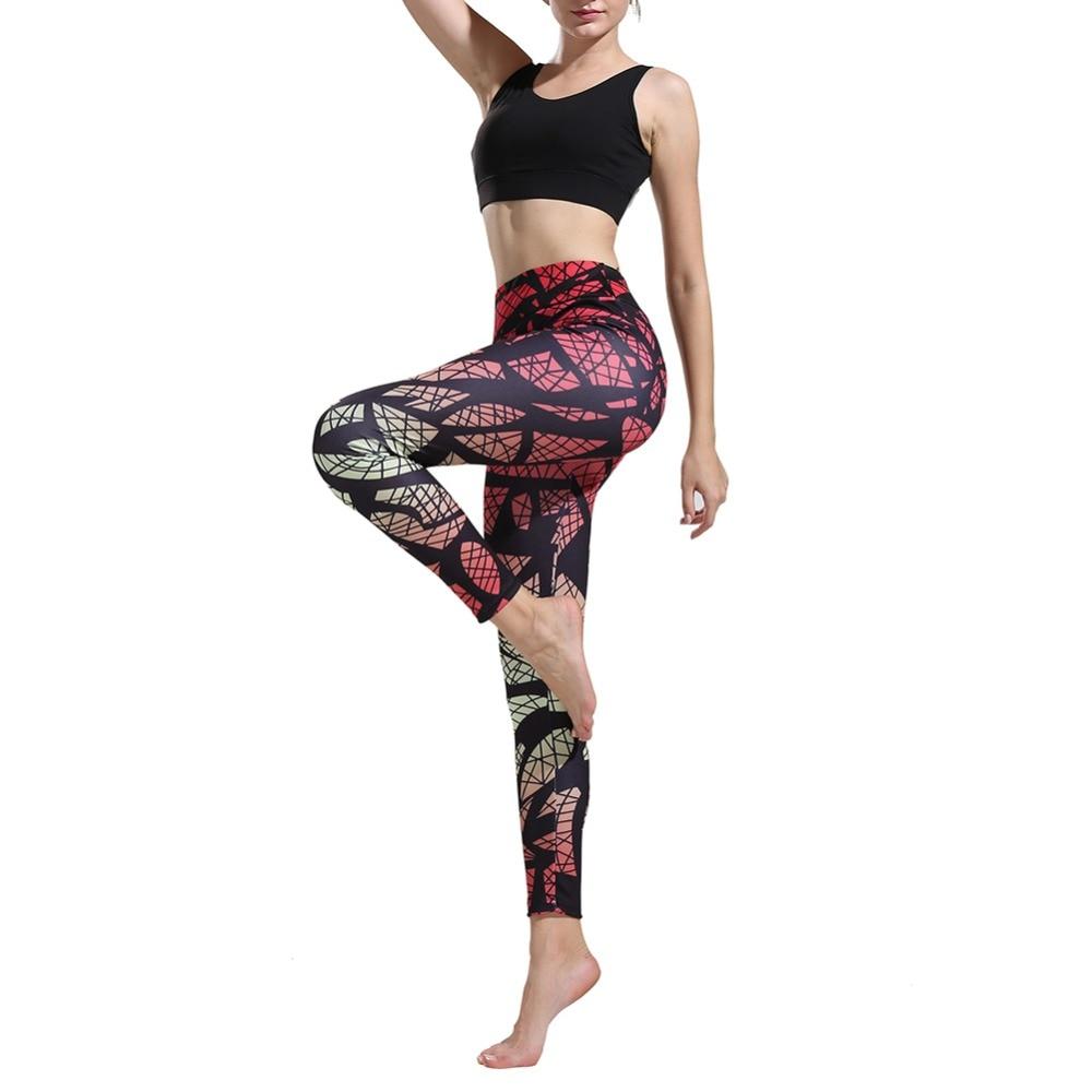 Twelve Fantasy Constellations Women Printed Full-Length Yoga Workout Leggings For Running Outdoor Sports