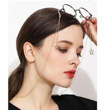 Модные шикарные женские Золотые Серебряные очки солнечные очки с цепочкой для чтения из бисера очки цепочка для очков шнур держатель для шеи ремень веревка
