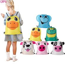 QIFU Kids Animal Bags Cute Animals Jungle Party Decor Happy Birthday Decorations Frog Pig Tiger Duck Supplies