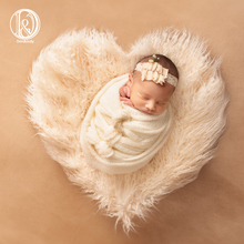 Don&Judy New Heart Blanket Newborn Baby Soft Faux Fur Photograph Prop Blanket Infant Background Photo Prop Basket Stuffer Filler цена и фото