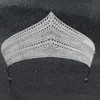 2019 New Crystals CZ Cubic Zirconia Wedding Bridal Royal Big Tiara Diadem Crown Women Prom Hair Jewelry Accessories CH10224