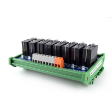 лучшая цена 8-way original Omron relay, original quality single open relay module, PLC amplifier board