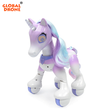 Global Drone RC Unicorn Horse Educational Toys for Children Interactive Toy Birthday Present Christmas Gifts Robot Toys for Girl