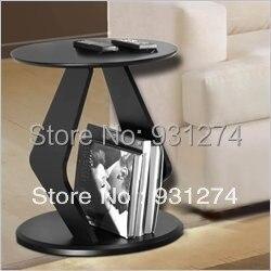 Eine Lux Schwarz Moderne Acryl Runde Couchtisch Mit Zeitungsstander