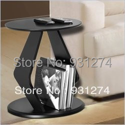 ONE LUX Black Modern  Acrylic round top coffee table with magazine rack ,Lucite Perspex Sofa Tables one lux waterfall acrylic lucite lounge sofa table plexiglass waiting room magazine side coffee corner tables