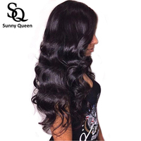 250% Lace Front Human Hair Wigs For Women Natural Black Body Wave Wig Pre Plucked Brazilian Lace Wigs Remy Wig Sunny Queen