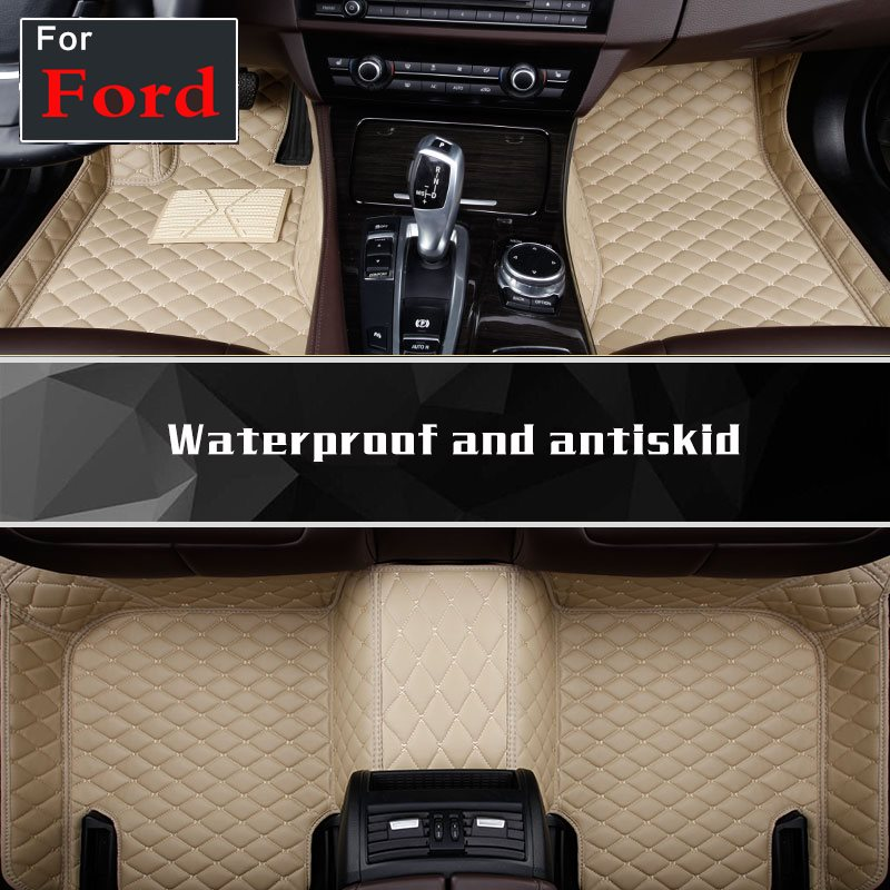Custom car floor mats for Ford Fusion Mondeo Edge Mk7 Edge turnkey car accessorie car styling floor mat car floor mats covers top grade anti scratch fire resistant durable waterproof 5d leather mat for ford focus car styling