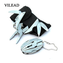 VILEAD Stainless Steel Multi-tool Pliers Mini MINI Multi-purpose Folding Pliers Scarab Tortoise Pliers Outdoor Supplies Tools multi functional mini pliers for outdoor activities household use