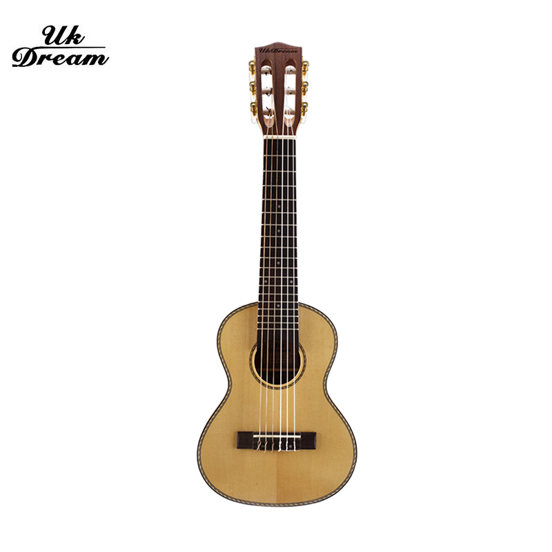 28 inch Small Authentic Guitar 6 string Guilele Wooden Classical 18 frets Guitars mini guitarra guitalele with three gift UJ-513 цена 2017