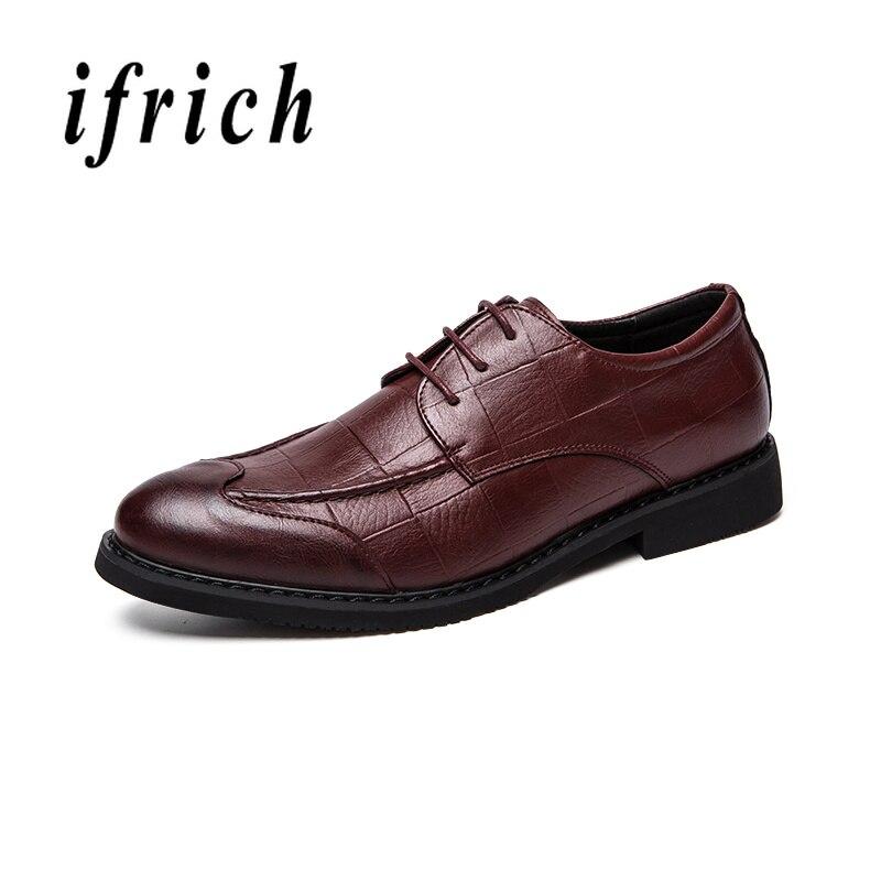 2019 Luxus Marke Männer Brogue Schuhe Männer Formale Hochzeit Kleid Schuhe Männer Oxford Schuhe Für Männer Brogues Sapato Social Masculino Couro Schuhe