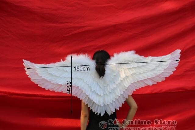 Belle ailes d'ange blanc pour l'exposition d'étape Modèles podiums des défilés Tir accessoires fait main caft fée ailes EMS livraison gratuite - 4