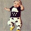 2017 Bebé Ropa de Verano de Los Bebés Que Arropan La Manera del Bebé Recién Nacido Ropa Roupa Infantil Bebes Bebé Camiseta Pantalones