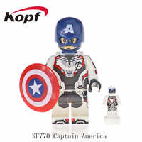 50Pcs Building Blocks Avengers 4 End Game Space Suit With Micro Figure War Machine Captain America For Children Model Toys KF770