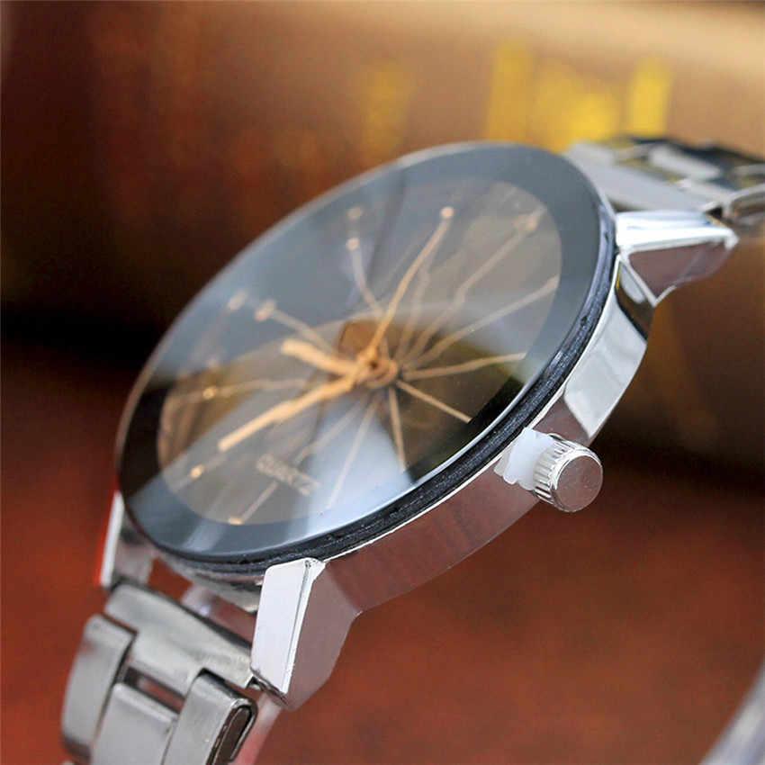 Reloj de pulsera de moda de lujo para mujer, hombre, banda de acero inoxidable, engranaje analógico, movimiento de cuarzo, Erings para mujer D50