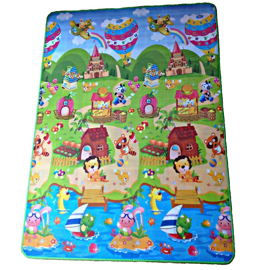 Waterproof Children Play Mat Beach Picnic mat baby <font><b>playing</b></font> mat Baby Crawling Mat kid's Rug Carpet Blanket Toy farm gift