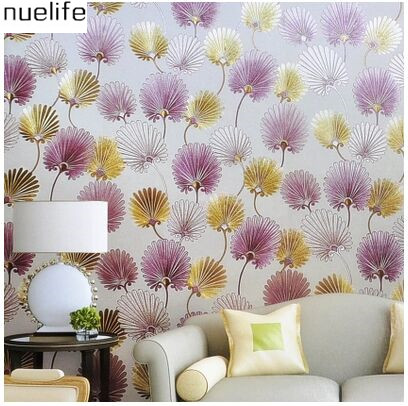 0.53x10m Modern dandelion pattern wallpaper KTV box hotel bar cafe clothing store women shop background wallpaper 3d custom wall painting wallpaper hotel clothing store project ktv shop entertainment decoration hotel cafe chinese dragon