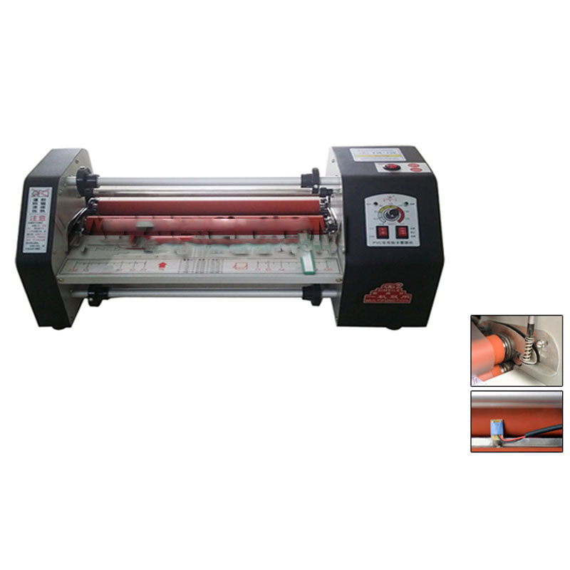 110v 220V Paper laminating machine cold and heating card laminating machine photo laminator 650w