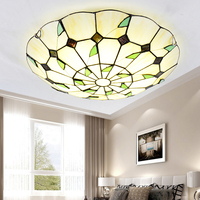 TIFFANY Ceiling Lights LED Lamp For Living Room Bedroom Study Room Home Deco AC85 265V Modern White surface mounted Ceiling Lamp