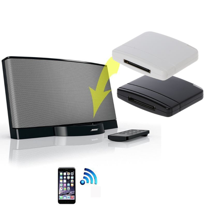 A2DP Bluetooth Music Audio 30 Pin Receiver Adapter Speaker Dock For IPod IPhone