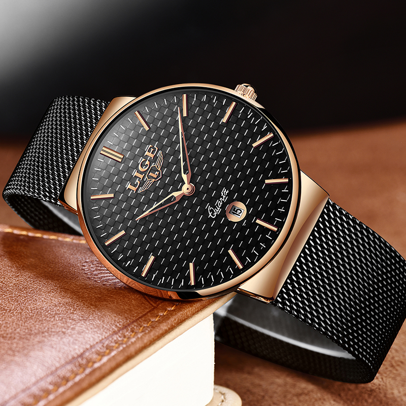 LIGE Fashion Luxury Brand Women Quartz Watch 3