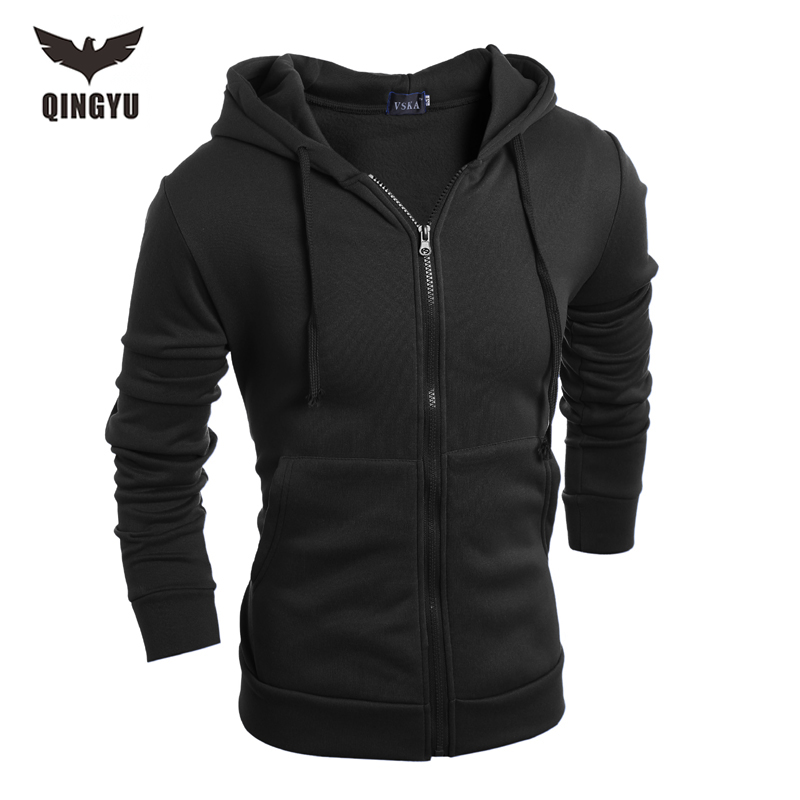 Hot 2018 Nykomst Gary Cotton Men Vinter Hoodies Villus Man Sweatshirts Högkvalitativ dragkedja Hooded Brands Herrrock XXL