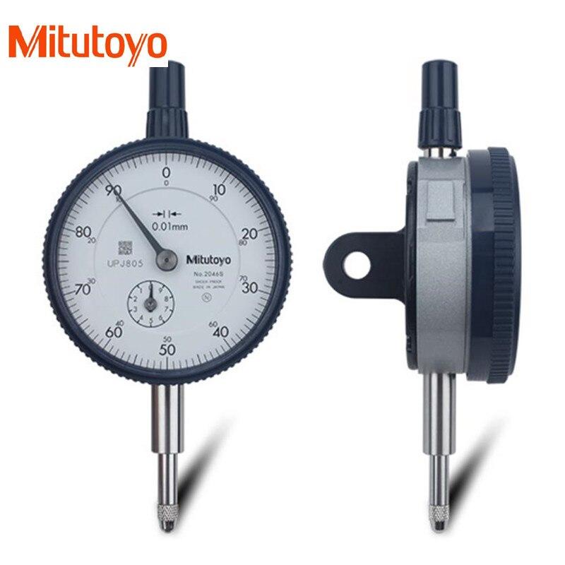 100% Real Japan Mitutoyo Dial Indicator 2046S 0-10mm/ 0.01 Dial Test Gauge Micrometer Measuring Tools guanglu dial indicator 0 0 8mm 0 01mm dial test indicator dial test gauge measurement instrument measure tools