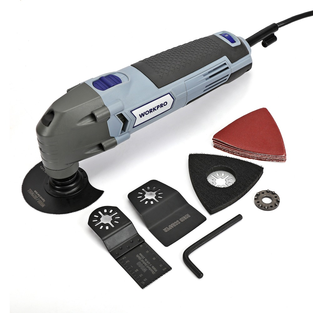 Image 2 - WORKPRO Oscillating Tool 220V Electric Trimmer Saw for Wood Working 300W Power Home DIY Wood Trimmer  Multi Tool-in Oscillating Multi-Tools from Tools on