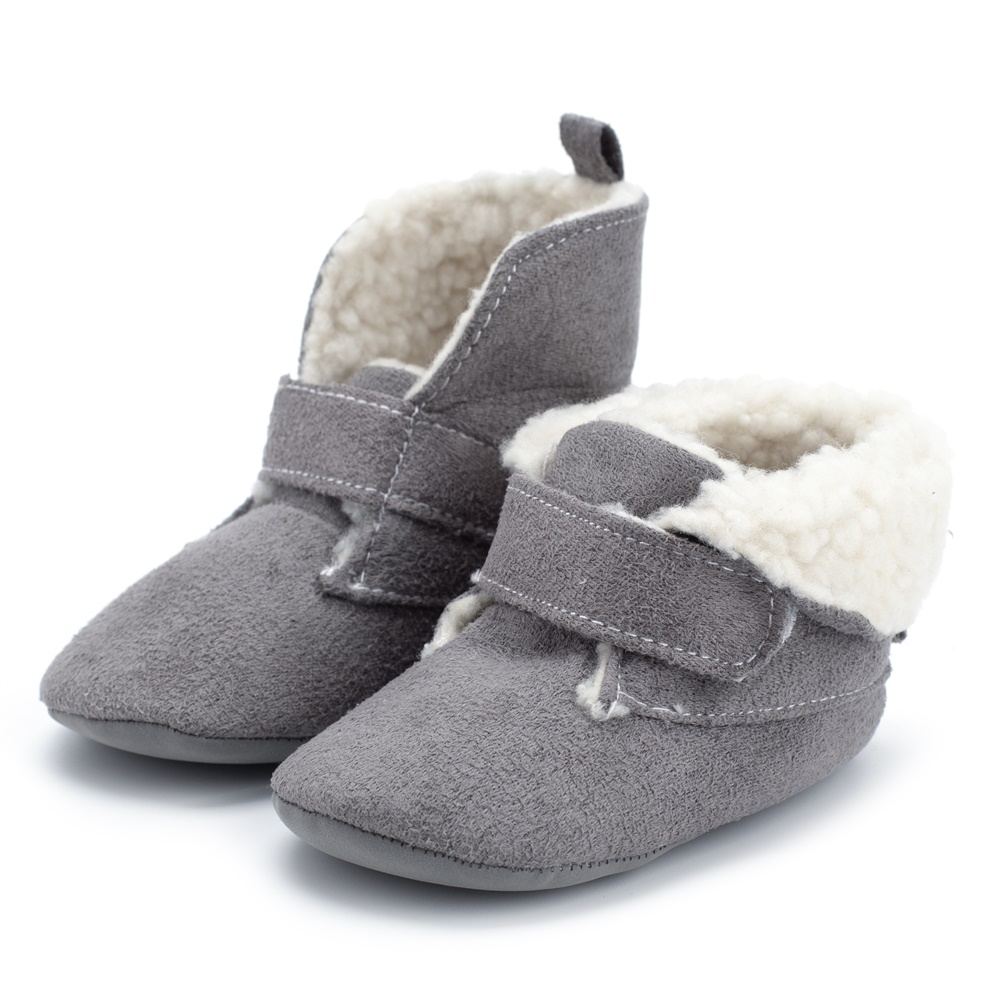 Christmas Baby Boots Newborn Infant Shoes Toddler Non-slip Fur Winter Warm Hot