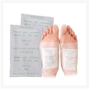 Image 5 - Kinoki Parches de desintoxicación para pies, 200 Uds. =(100 Uds. + 100 Uds. Adhesivos), almohadillas para toxinas corporales, limpieza adelgazante de pies, srmp herbaladhesivo