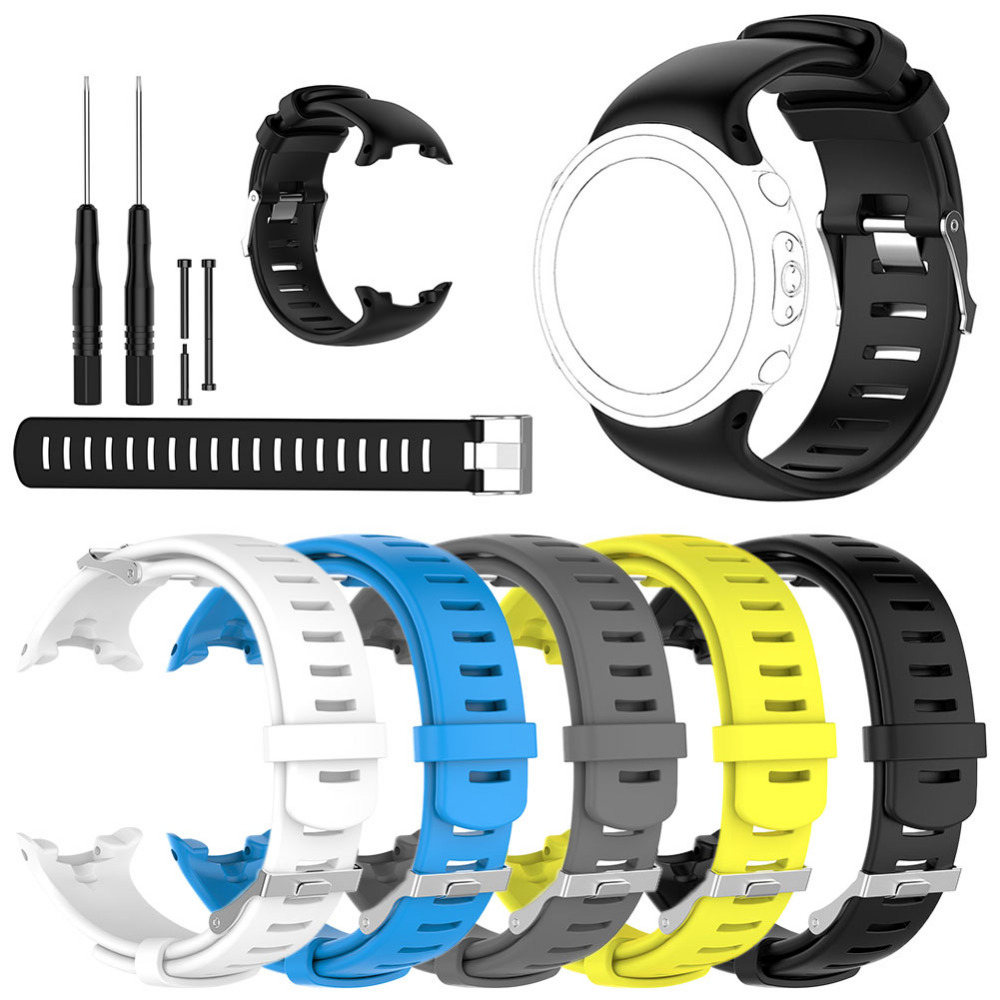 2020 de alta qualidade substituição silicone pulseira de pulso pulseiras pulseiras para suunto d4 d4i novo relógio de pulso do computador mergulho
