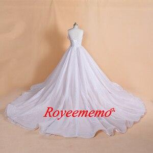 Image 2 - 2019 Thiết Kế Mới nóng bán dài tay áo vàng vành đai Wedding Dress ren wedding gown bất hình ảnh nhà máy thực hiện bán buôn giá