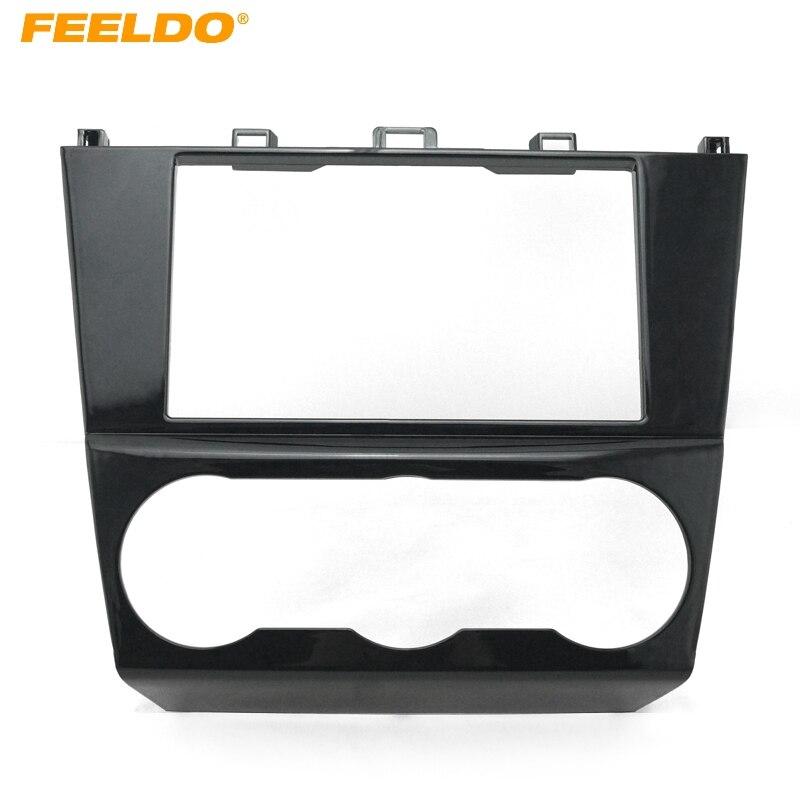 30879ac459a FEELDO 1Pc Car 2DIN Refitting Radio Stereo DVD Frame Fascia Dash Panel  Installation Kits Conversion For Subaru Impreza  FD-3640