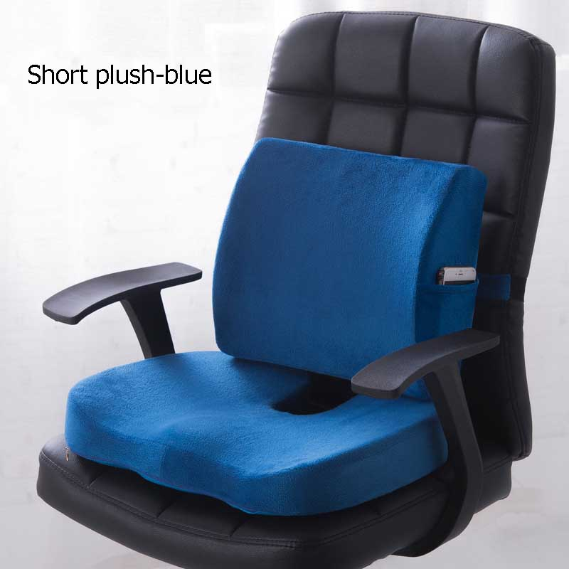 HTB1ThFtXlSD3KVjSZFqq6A4bpXaV Car Seat Cushion Coccyx Orthopedic Memory Foam Seat Massage Chair Back Cushion Pad Office Massage Cushion